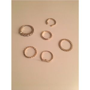 6 Piece Assortment Ring Set